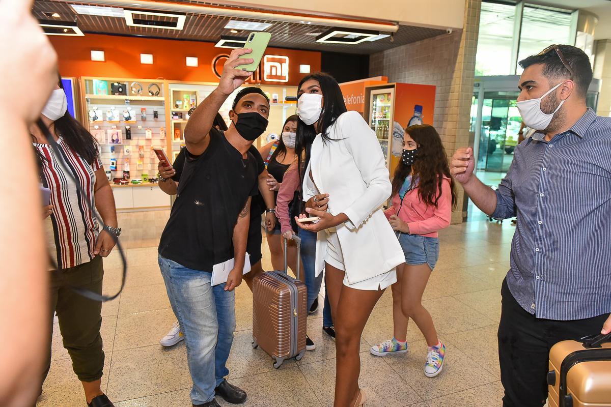 Pocah no Aeroporto de Congonhas