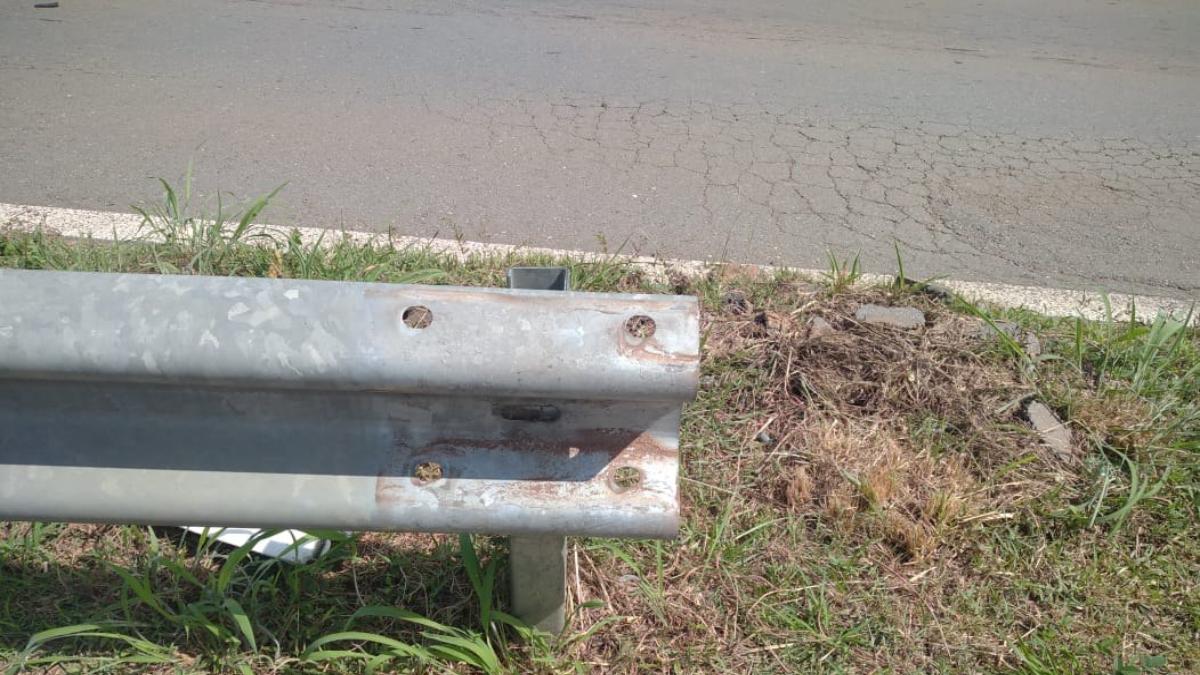 Preso suspeito de furtar defensas metálicas na saída da GO-403, em Goiânia