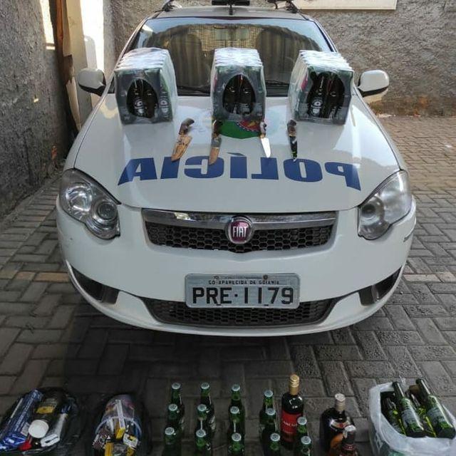 Presos suspeitos de furtarem 14 caixas de cerveja e outras bebidas em Goiânia