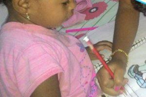 Alice Gabrielly, 2 anos, não consegue vaga no Cmei (Foto: Arquivo Pessoal)