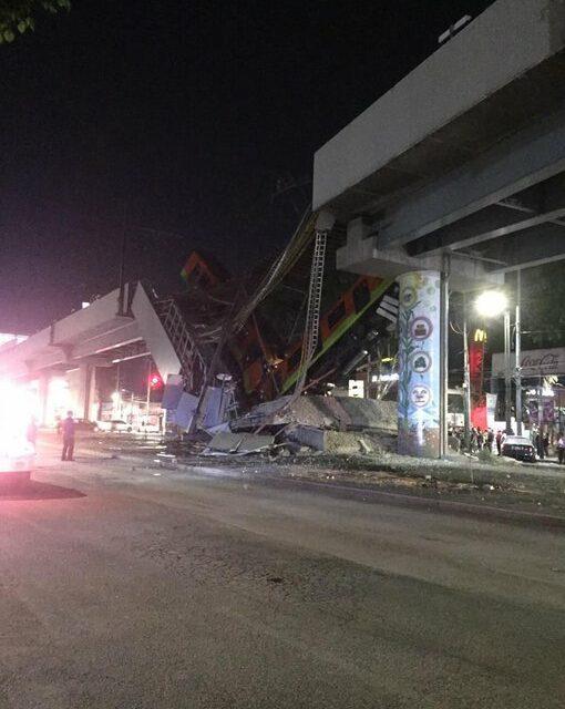 Estrutura de metrô desaba e deixa mortos e feridos no México