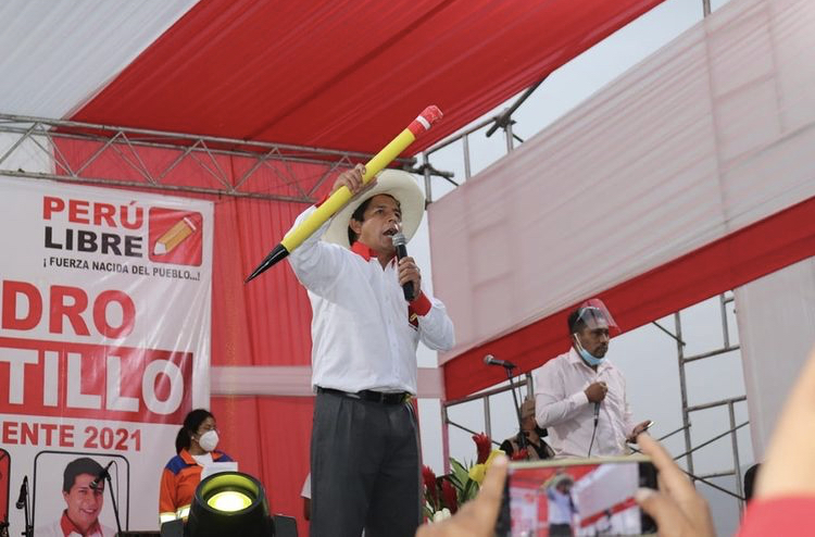 Pedro Castillo, presidente virtualmente eleito do Peru (Foto: Instagram @pedrocastillopresidente)