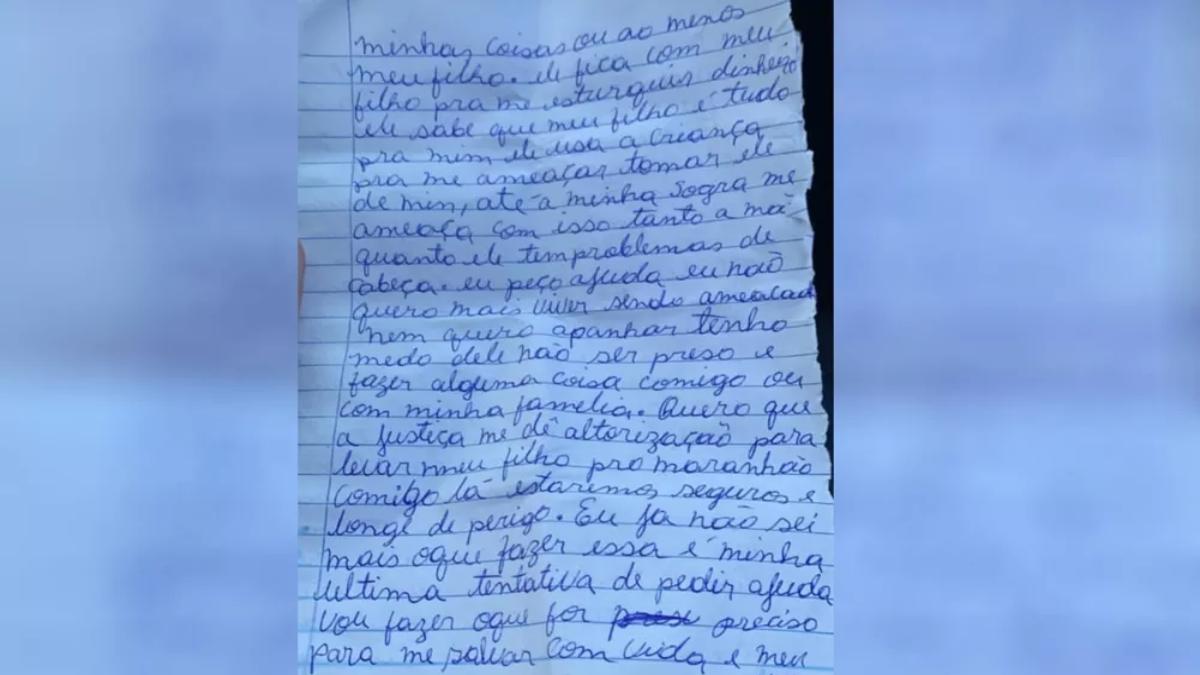 Uma jovem de 22 anos denunciou o marido por violência doméstica através de uma carta na cidade de Morrinhos. Homem foi preso.