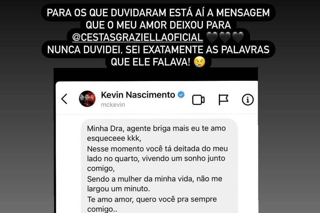 Viúva de MC Kevin rebate críticas sobre veracidade de carta deixada pelo funkeiro