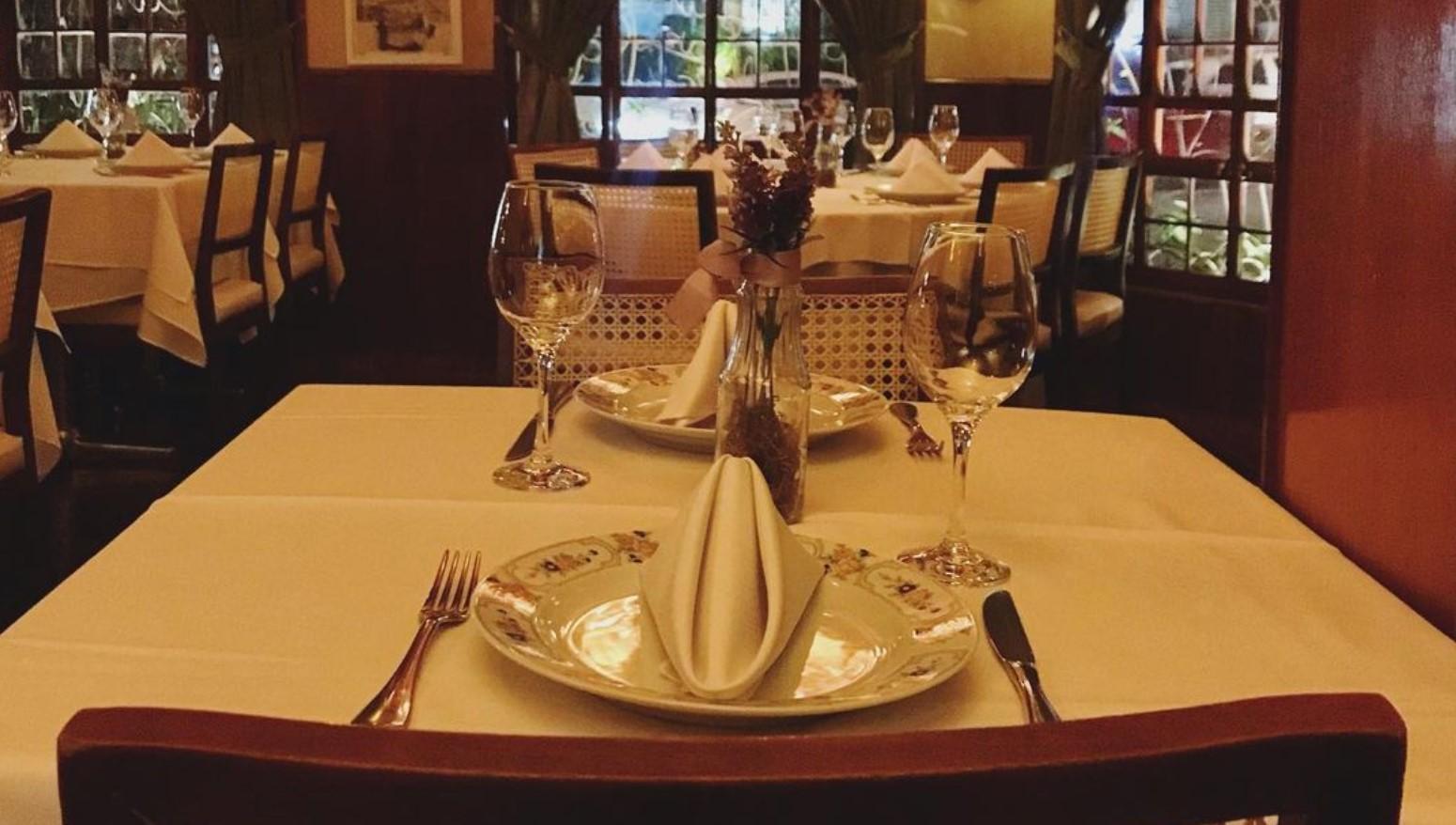 Restaurante Bartolomeu é opção entre os restaurantes românticos em Goiânia