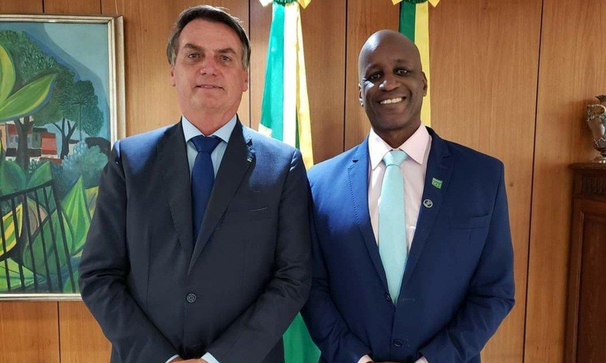 Sérgio Camargo e Jair Bolsonaro