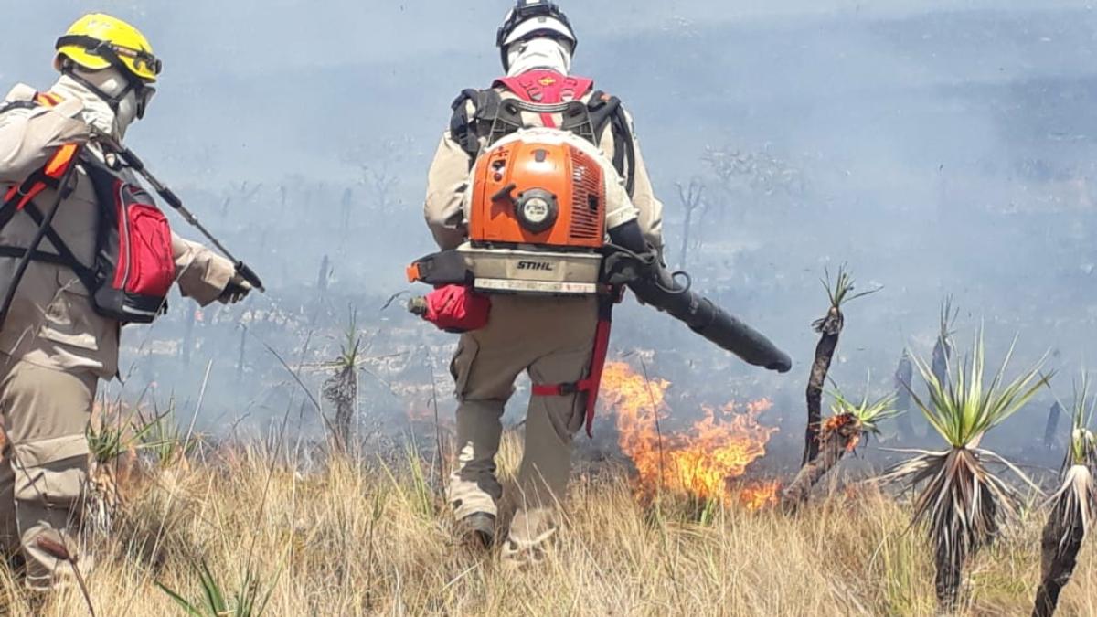Parque Águas do Paraíso está fechado devido incêndio na região da Chapada dos Veadeiros